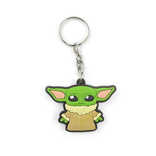 Chaveiro Geek Emborrachado Baby Yoda - Presente Criativo