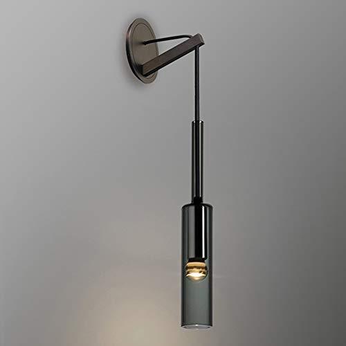 De enige goede kwaliteit Decoratie Nachtlampje Koper Zwarte Slaapkamer Creatieve Lamp Studie Woonkamer Badkamer Kast Lamp Post Moderne Crystal Wandlamp 7 * 42 (cm)
