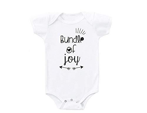Promini Bundle of Joy Cute Funny Baby Onesie Regalo Novedad Tshirt Disfraz Bebé Body Blanco blanco 2 mes
