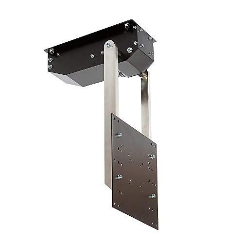 pushMINI - TV Deckenhalterung elektrisch schwenkbar, klappbar, neigbar - für bis 55 Zoll Fernseher bis 22,5 Kg - Monitor Halter für Decke VESA bis 300x300 mm