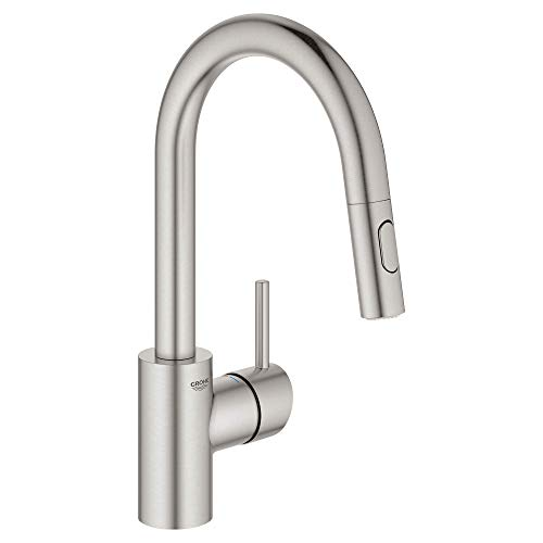 Grohe 31479DC1 Concetto Single-Handle Kitchen Faucet, SuperSteel InfinityFinish