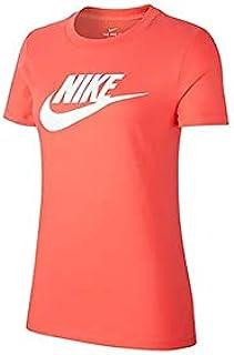 Nike Women's ESSNTL ICON FUTURA T-Shirt, White, Large (NKBV6169-850)