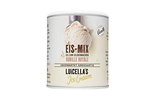 Luicella's Eispulver Eis-Mix Vanille Royale 100% natürlich (6 Dosen)