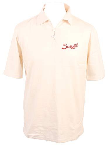 Suixtil Rio Herren-Poloshirt aus 100 % Slub-Garn, kurzärmelig Gr. L, gebrochenes weiß