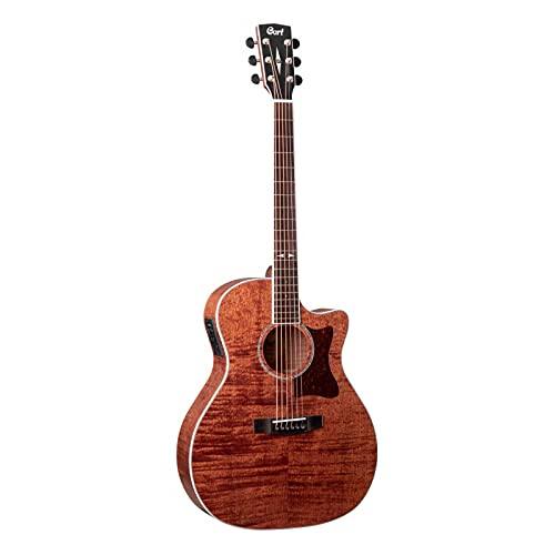 Cort GA5F-FMH - Guitarra electroacústica serie Grand Régal, poros abiertos naturales