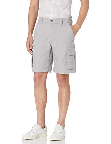 Amazon Essentials Men's Lightweight Ripstop Stretch Cargo Short, Silver, 36
