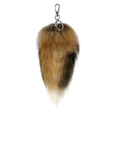 trendfuxx® - Mini-Fuchsschwanz Anhänger, Mini-Fuchsschweif für die Handtasche - braun