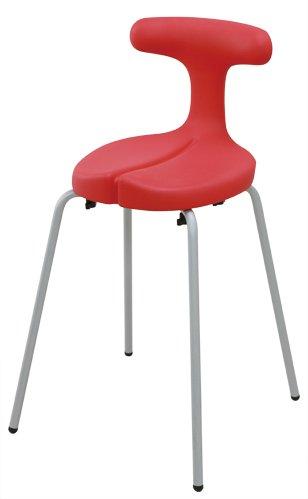アーユル・チェアー スツールタイプ Mサイズ レッド 【骨盤を立て坐骨で座る 腰と姿勢のサポート椅子 ダイニングチェア 集中できる学習環境】