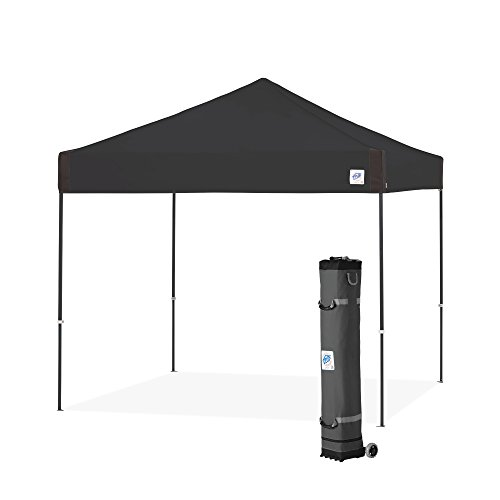 E-Z UP Pyramid Instant Shelter 10' x 10' Canopy | Portable Popup Tent W/ Upgraded Wide-Trax Roller Bag | Splash (PR3LA10SP)