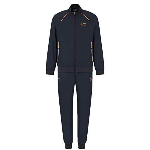 Emporio Armani EA7 3HPV01 Herren-Trainingsanzug mit durchgehendem Reißverschluss, Polyester, Nachtblau, Nacht Blau, xxl