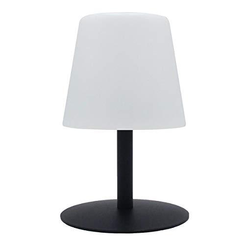 Lumisky - Lámpara de mesa de jardín con luz blanca inalámbrica con batería STANDY Mini Dark de 26 cm, ABS, negro, 15 x 15 x 26 cm