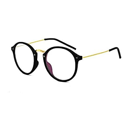 Sheomy Selfy Clear Round Transparent Wayfarer Spectacle Eye Frame Reading Black Sunglasses for Mens and Women
