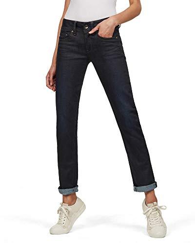 G-STAR RAW Damen Jeans Midge Mid Waist Straight, Dk Aged 7209-89, 27W / 30L