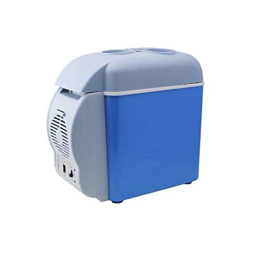 YUNJIE Nevera Pequeña,Compacto Refrigerador Refrigerador Y Calentador Compacto Y Portable Corriente Continua 12v Inicio Oficina Coche Dormitorio O Barco-Azul 32.5x18x30cm(13x7x12inch)