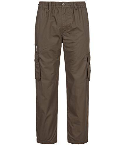 Fashion Herren Thermohose mit Dehnbund - mehrere Farben ID553, Größe:3XL;Farbe:Braun