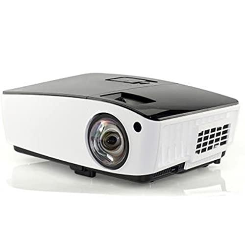 tyui Proyector, Proyector de reunión de Educación Escolar DLP de Tiro DLP portátil HD 1080P Proyector de Oficina para Casa Al Aire Libre Teatro Película Video Entretenimiento