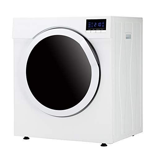 13.2LBS Portable Clothes Dryer, 3.22 Cu.Ft Compact Front Load Tumble Laundry Dryer w/Stainless Steel Tub, High End Button Control w/LCD Screen, 1500W