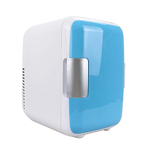 LLZH 4L Mini Fridge Cooler and Warmer, Portable Office Personal Fridge, AC/DC Power for Car and Home, for Skincare, Food, Medication, Dorm and Travel