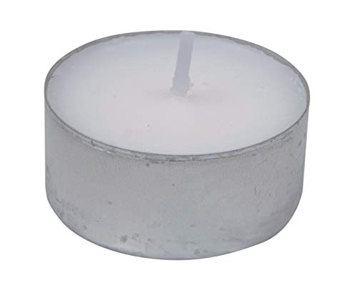 Il Brico Candele TEALIGHT A LUMINO SEGNAPOSTO SCALDAVIVANDE Diametro mm.38 Altezza mm.4 Colore Bianco (Confezione pz.100)