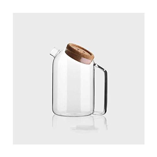 ZXL Theepot Hoge Borosilicaat Glas Pitcher Hittebestendigheid Met Handvat Grote Capaciteit Karaf Voor Hete Of Iced Sangria Theewater Voor Thee (Maat: 1800ml)