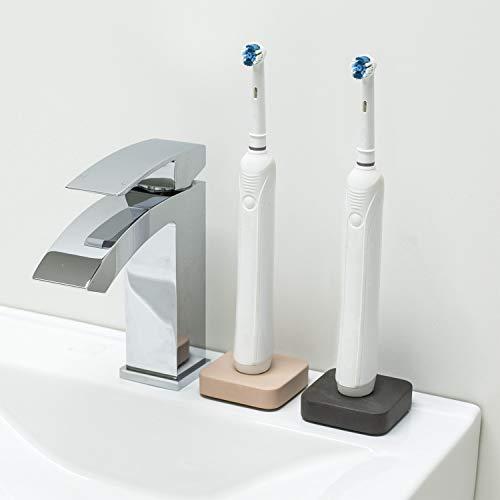 Zahnbürstenhalter für Oral B Elektrozahnbürsten aus Beton (Grau & Rosè)