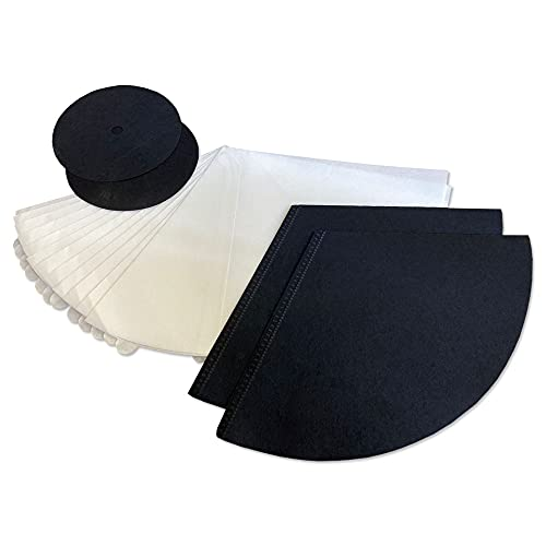 MohMus Juego de filtros de aspiradora Adecuado para Filterqueen Majestic Queen 360-12x filtros cónicos + 2X filtros de carbón Activado + 2X filtros de protección del Motor