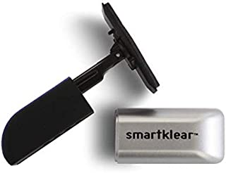 SmartKlear Smart Phone Screen Cleaner - Efficient and Durable Carbon Microfiber Technology (Black Rubber & Silver Metallic)