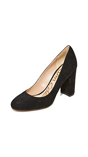 Sam Edelman Women's Stillson Pump, Black Suede, 10 M US