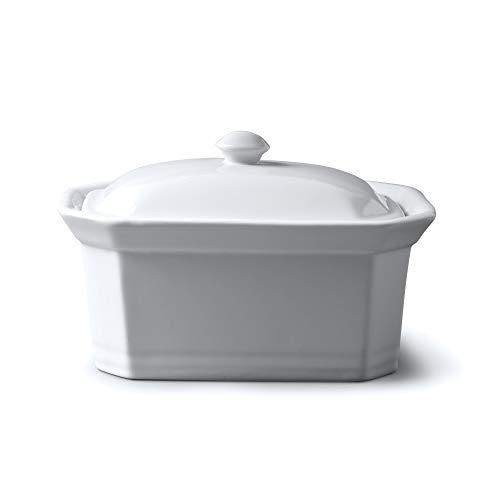 WM Bartleet & Sons Butter-/Terrine mit Deckel, weiß, 18x13.5x11cm