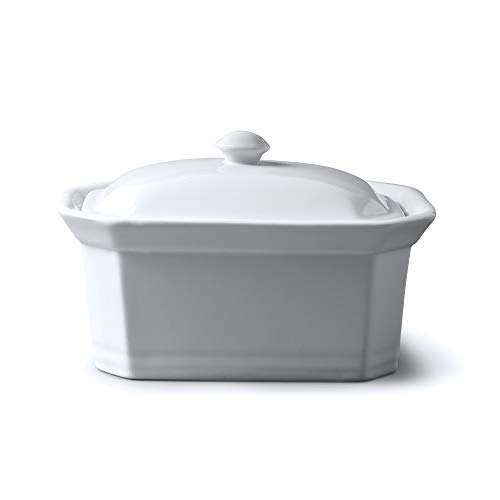 WM Bartleet & Sons 1750 T184 Butter/Terrine Dish with Lid, White