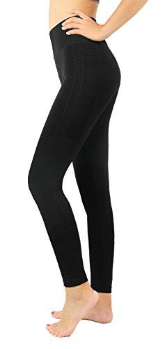 iLoveSIA Women's High Wasit Workout Tights Yoga Sport Pants Leggings Black XL