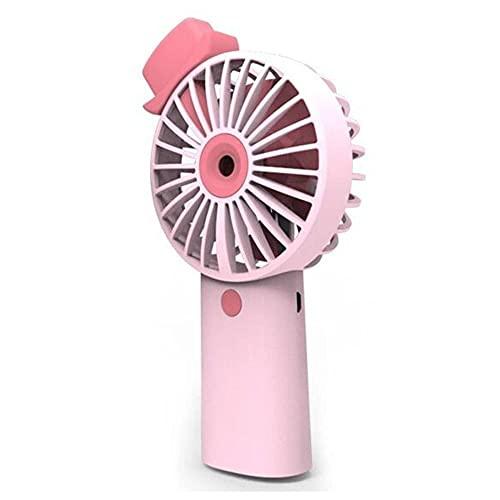 KYEEY Mini Ventilador 3 Velocidad Mini Mini Portátil Mano De Mano Recargable USB Fan De Escritorio De Refrigeración Adecuado para Viajes Al Aire Libre (Size:10x5x2cm; Color:Pink)