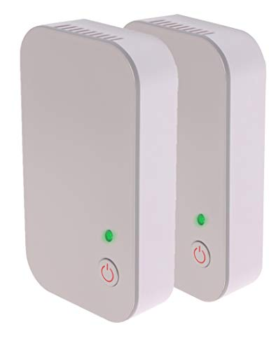Cleario Negative Ion Generator [2-Pack] | No Filter Ionizer | Plug in Air Purifier | Odor Absorbers for Rooms | Deodorizer and Odor Eliminator for Home, Office, Travel, Pets | Compact Modern Design