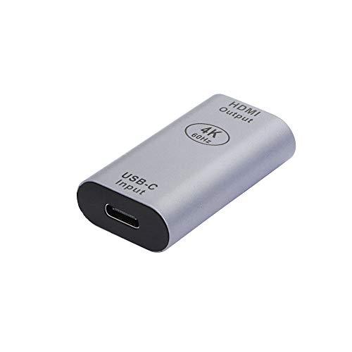 CERRXIAN Adaptador USB C a HDMI, 4K a 60Hz USB tipo C hembra a HDMI hembra (Thunderbolt 3 compatible), para oficina en casa