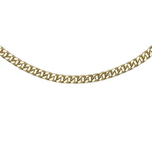 Carissima Gold Collana da Donna in Oro Giallo 9K - Catena a Maglie Quadrate a Spiga - 56 cm