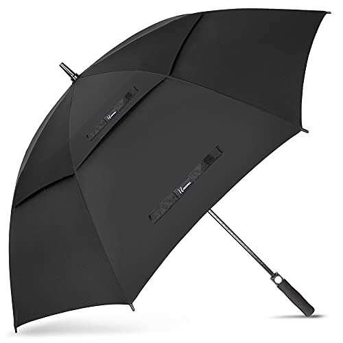 NINEMAX Large Golf Umbrella Windproof 68 Inch Extra Large, Automatic Open Double Canopy Vented Oversized Adult Umbrella for Rain and Wind