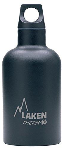 Laken Futura Botella Térmica de Acero Inoxidable 18/8 y Aislamiento de Vacío con Doble Pared, Negro, 350 ml