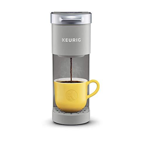 Keurig K-Mini Coffee Maker, Single Serve K-Cup Pod Coffee Brewer, 6 to 12 Oz. Brew Sizes, Studio Gray (Renewed)