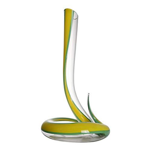 LHLJ Glass Cobra Wine Decer, Jarra de Vino Tinto con Forma de Serpiente, Wine Enthusiast Serie de Arte de Cristal sin Plomo Treble Wine Decer