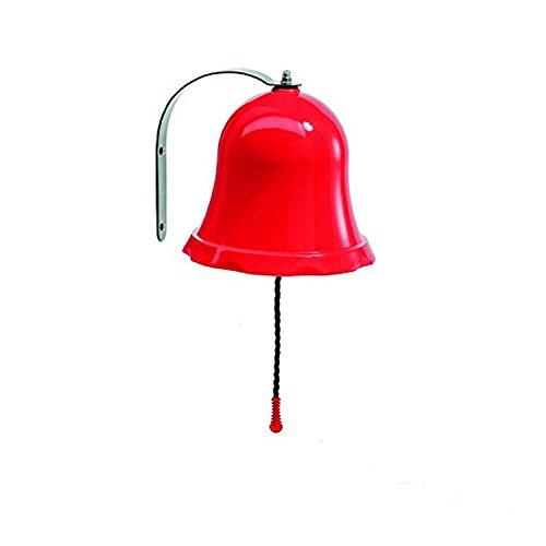 Gartenpirat Glocke rot aus PP und Metall Schiffsglocke für Kinder Spielhaus Baumhaus