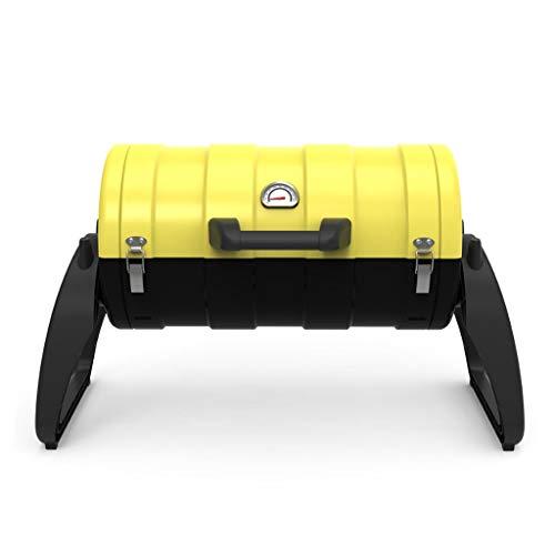 hkwshop Barbacoa Portátil Parrilla portátil al Aire Libre Hogar for más de 5 Personas Parrilla de carbón Herramientas de Barbacoa Salvaje Barbacoa de Exteriores (Color : Yellow)