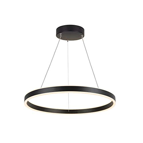 SLV Pendelleuchte ONE 60 PD DALI UP/DOWN / Wohnzimmer-Lampe, Innen-Beleuchtung, Hänge-Leuchte Esszimmer, LED, Decken-Leuchte / 25.0W 820lm schwarz dimmbar