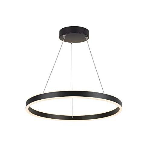 SLV Lámpara colgante One 60 PD Dali UP/DOWN/Lámpara de salón, iluminación interior, lámpara colgante para comedor, LED, lámpara de techo / 25 W 820 lm negro regulable