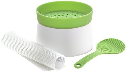Lékué 3000018SURM017 Kit de Sushi PBT/Silicone Blanc/Vert