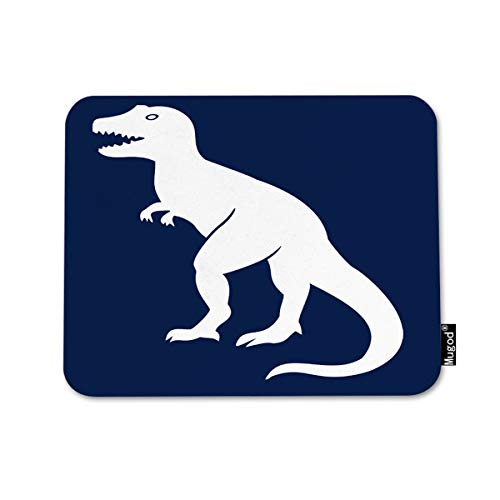 Mugod Mouse Pad Prehistoric Tyrannosaurus Dinosaur in Navy Paleontologist Decor Gaming Mouse Pad Rectangle Non-Slip Rubber Mousepad for Computers Laptop 7.9x9.5 Inches
