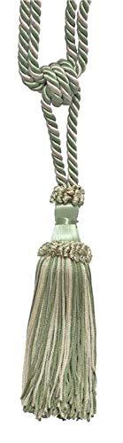 Olive Green, Vanilla Decorative Chainette Tieback, 15cm Tassel Length, 76cm Spread (embrace), Style# ECTB COLOR: 2932