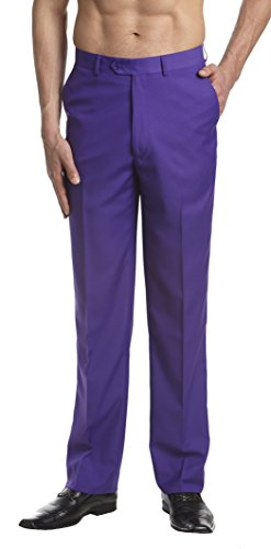 CONCITOR Men's Dress Pants Trousers Flat Front...