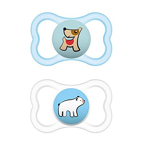 Istruzioni in lingua straniera - MAM Supreme - Set di 2 ciucci per bambini per uno sviluppo sano dei denti e della mandibola, con scatola per ciuccio, 16 mesi e orso polare