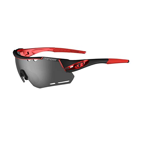 Tifosi Optics Alliant Sunglasses Black/Red/Smoke/AC Red/Clear, One Size - Men's