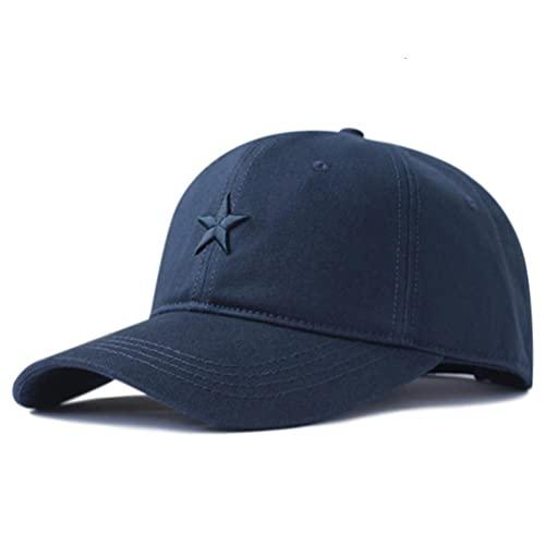 QSMIANA Baseball Cap Cotton Soft Sunscreen Bone Hat Men's Casual Men's Hat Plus Baseball Size Hat 56-61 cm 62-68 cm Navy Blue